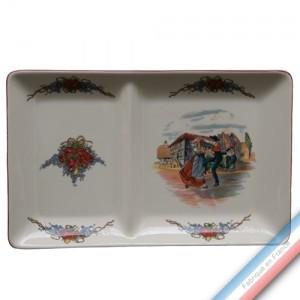 Collection OBERNAI - Assiette chaud/froid - 37 x 23 cm - Lot de 1