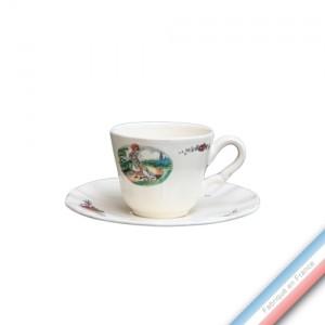 Collection OBERNAI  - Tasse et soucoupe café - 0,11L/15cm  -  Lot de 4