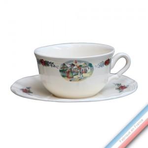 Collection OBERNAI  - Tasse et soucoupe déjeuner - 0,40L/19cm  -  Lot de 4