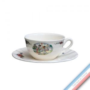 Collection OBERNAI  - Tasse et soucoupe thé basse - 0,21L/16cm -  Lot de 4