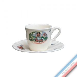 Collection OBERNAI  - Tasse et soucoupe thé haute - 0,19L/16cm / -  Lot de 4