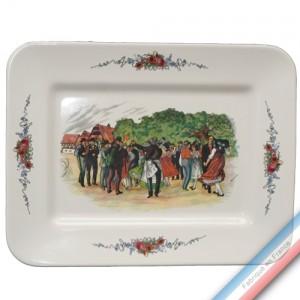 Collection OBERNAI  - Plat rectangulaire 'Grand' - 42,5 x 32,5 cm -  Lot de 1