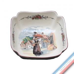 Collection OBERNAI  - Coupe à Fruits / Saladier carré Louis XV - 24 x 24 cm -  Lot de 1
