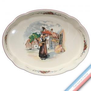 Collection OBERNAI  - Plat ovale 'Moyen' culinaire - 28,5 x 23 cm -  Lot de 1