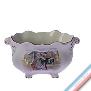 Collection OBERNAI  - Jardinière Ovale a Griffes  'Petit' Louis XV - H 10 cm x L 20 cm -  Lot de 1