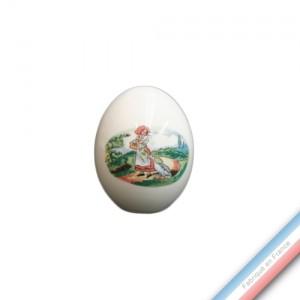 Collection OBERNAI  - Oeuf 'Petit' - H 7,5 cm -  Lot de 1