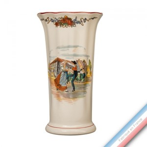 Collection OBERNAI  - Vase à Côtes  'Petit' Louis XV - H 23 cm -  Lot de 1