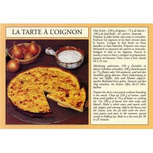 "Carte postale recette alsacienne - ""La tarte à l'oignon"""