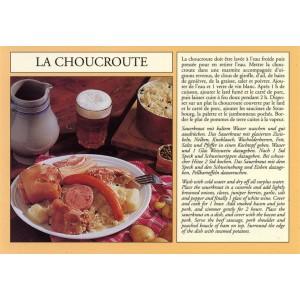 """Carte postale recette alsacienne - """"La choucroute"""""""
