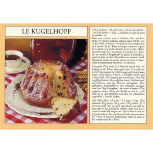 "Carte postale recette alsacienne - ""Le kugelhopf"""