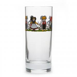 Lot de 6 verres Chopes hautes, motif Hansi