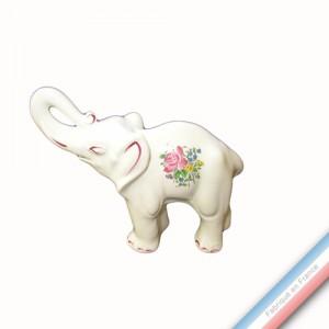 Collection REVERBERE déco  - Eléphant trompe déployée 'Moyen' - H 17 - L 20 cm -  Lot de 1