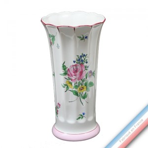Collection REVERBERE déco  - Vase à Côtes 35 Louis XV - H 35 cm -  Lot de 1