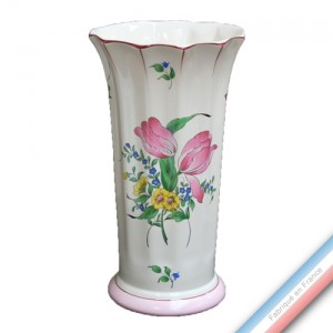 Collection REVERBERE déco  - Vase à Côtes 'Grand' Louis XV - H 30 cm -  Lot de 1