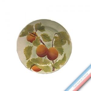 Collection BARBOTINES  - Assiette dessert abricot - Diam  22 cm -  Lot de 4