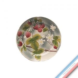 Collection BARBOTINES  - Assiette dessert framboise - Diam  22 cm -  Lot de 4