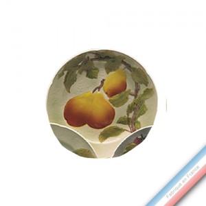 Collection BARBOTINES  - Assiette dessert poire - Diam  22 cm -  Lot de 4