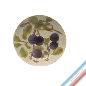 Collection BARBOTINES  - Assiette dessert prune - Diam  22 cm -  Lot de 4