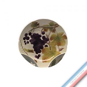 Collection BARBOTINES  - Assiette dessert raisin - Diam  22 cm -  Lot de 4
