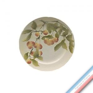 Collection BARBOTINES  - Assiette dessert Cerise mirabelle - Diam  22 cm -  Lot de 4