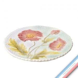 Collection BARBOTINES  - Assiette dessert coquelicots - Diam  20 cm -  Lot de 4