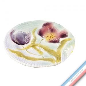 Collection BARBOTINES  - Assiette dessert tulipes - Diam  20 cm -  Lot de 4