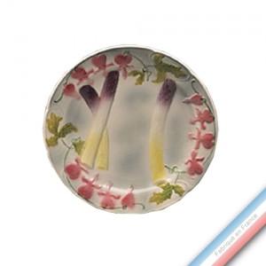 Collection BARBOTINES  - Assiette asperges - Diam  23 cm -  Lot de 4