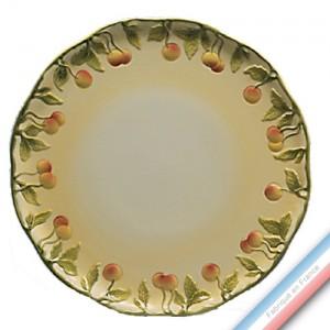 Collection BARBOTINES  - Plat tarte mirabelle - Diam  34 cm -  Lot de 1