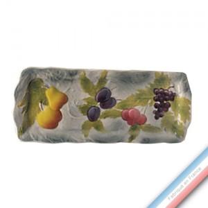 Collection BARBOTINES  - Plat Cake Fresa - 40 x 16 cm -  Lot de 1