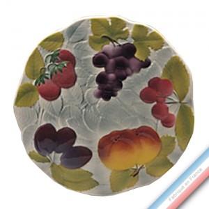 Collection BARBOTINES  - Plat Tarte Fresa - Diam  30 cm -  Lot de 1