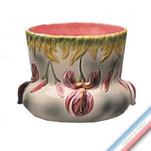 Collection BARBOTINES  - Cache pot iris 'Petit' - H 19 x 20 cm -  Lot de 1