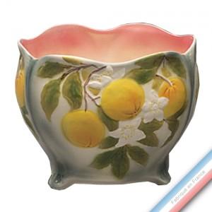 Collection BARBOTINES  - Cache pot orange - H 15 cm -  Lot de 1