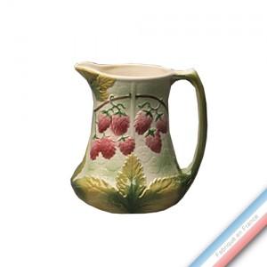 Collection BARBOTINES  - Pichet framboises - H 20 cm - 1,63 L -  Lot de 1