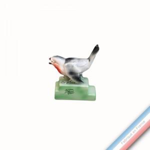 Collection BARBOTINES  - Oiseau bouvreuil - H 13,5 cm -  Lot de 1