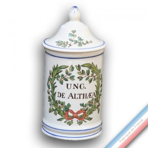 Collection - Pot à pharmacie 'Moyen' Lph Ung. De althéa - H 18 cm -  Lot de 1