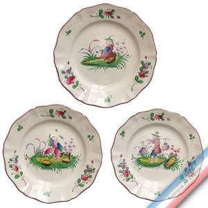 Collection CHINOIS - Assiette plate - Diam  25 cm -  Lot de 4