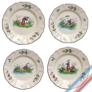 Collection CHINOIS - Assiette dessert - Diam  20,5 cm -  Lot de 4