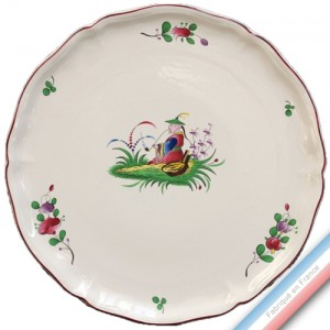 Collection CHINOIS - Plat tarte - Diam  34 cm -  Lot de 1