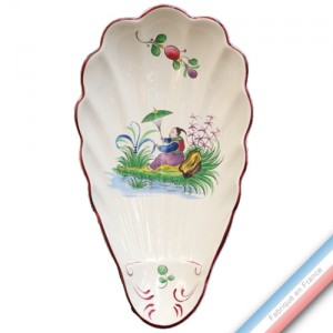Collection CHINOIS - Ravier coquille Louis XV - L 27 cm -  Lot de 2