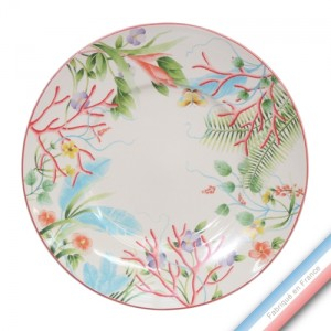 Collection FLEUR DE CORAIL - Assiette plate - Diam  27,5 cm -  Lot de 4
