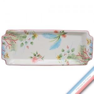 Collection FLEUR DE CORAIL - Plat cake - 38 x 15 cm -  Lot de 1