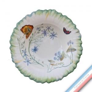 Collection FOLIES BOTANIQUES - Assiette creuse - Diam  23 cm -  Lot de 4