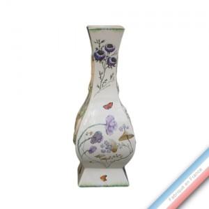 Collection FOLIES BOTANIQUES - Vase à 4 pans 'Moyen' - H 43,5 x L 17 cm -  Lot de 1