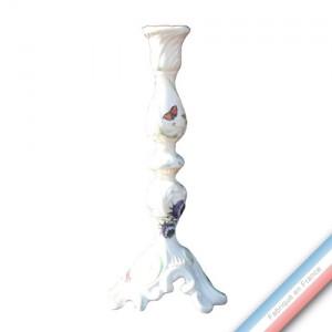 Collection FOLIES BOTANIQUES - Bougeoirs 'Grand' rocaille - H 68 cm -  Lot de 1