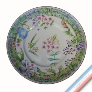 Collection VENT DE FLEURS - Assiette plate - Diam  27,5 cm -  Lot de 4