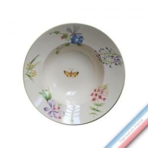 Collection VENT DE FLEURS - Assiette creuse - Diam  22,5 cm -  Lot de 4