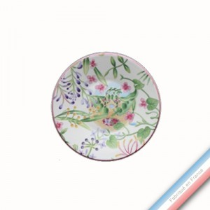 Collection VENT DE FLEURS - Assiette à pain - Diam  15.5 cm -  Lot de 4