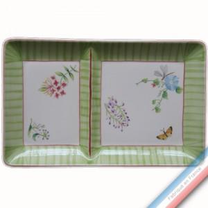 Collection VENT DE FLEURS - Assiette chaud/froid - 37 x 23 cm -  Lot de 1