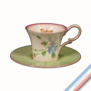 Collection VENT DE FLEURS - Tasse et soucoupe Déjeuner - 0,28L / 18cm -  Lot de 4