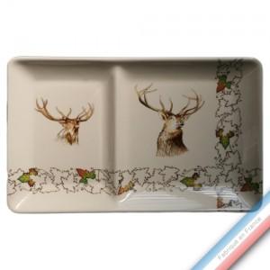 Collection CHAMBORD - Assiette chaud/froid - 37 x 23 cm -  Lot de 1